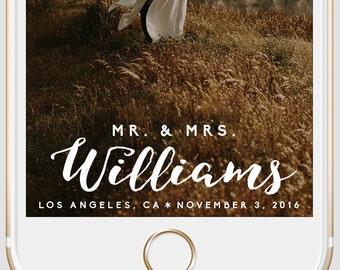 Script Mr. & Mrs. Wedding Snapchat Geofilter   Cursive Custom Personalized Instant Download   Birthday Filter   Bridal Shower Geofilter