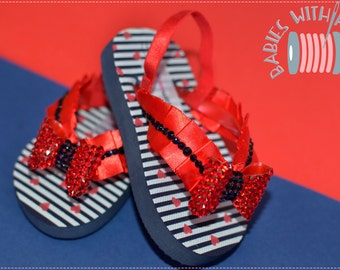 Baby girl SWAROVSKY crystal flip-flops