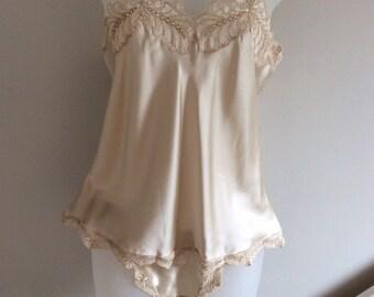 100% Pure silk camisole and brief set.