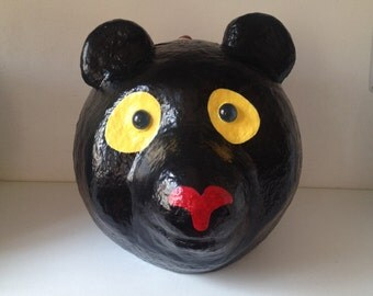 Bear design - paper mache handmade box