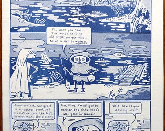 Sir Gawain and the Ferryman - 4-page comic/poster