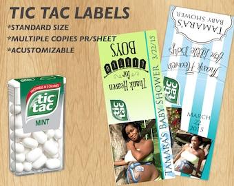 TicTac Favor Labels (Personalized)