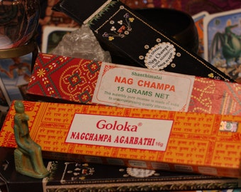 Nag Champa Blue,Red and Gold 15g packs 3 for 5 dollars