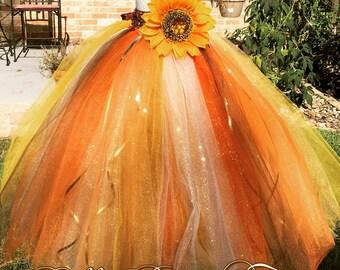 Fall tutu dress / scarecrow costume