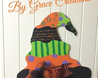 Halloween Witches Hat Door Hanger- Halloween Door Hanger