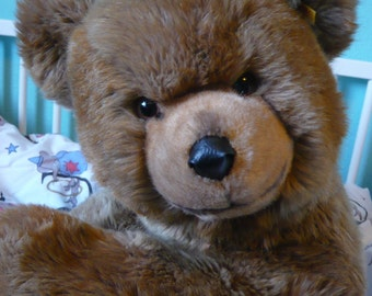 SALE!!Original Steiff Bear, Brown Bear, Grizzly, Stuffed Animal