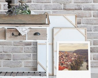 """Custom Polaroid Style Cotton Canvas Print with Copyright Photograph of Veliko Tarnovo - """"Best View in Town"""", 3 sizes available, Wall Decor"""