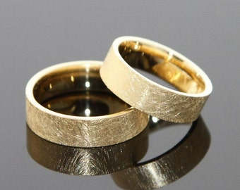 Wedding rings FROZEN 8 k or 14 k GOLD