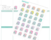 30 cute, kawaii, washing machine, rainbow, retro, laundry, planner stickers, pastel, washing day, chores, task, to do, cleaning, LAU2