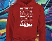 Funny Ugly Sweater | Super Hero Hoodie | Christmas Sweater |  Dark Knight | Retro Christmas Sweatshirt | Jingle Bells Batman Smells | AR-46