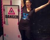 Meta Laser Cat Tunic - Women's Scoop Neck Tunic Length Shirt, Funny Cat, Funny T Shirt, Funny Shirts, Funny Cat Shirt, Galaxy Cat Shirt