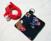 Earbud Pouch - Choose the Fabric - Earbud Case Holder - Purse Keychain