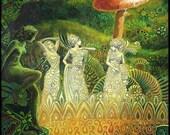 Tuatha Dé Danann Mini Print ACEO ATC Altar Art Pagan Goddess Art Irish Mythology