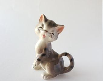 Charming Ceramic Tabby Kitten