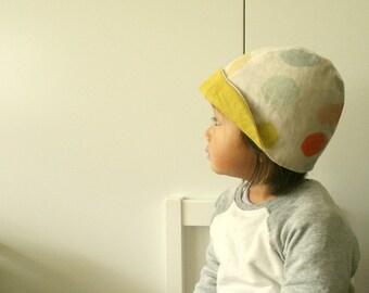 mobi spot LINEN HAT / summer hat / girl / children / toddler / retro / modern designer hat / cloche / eco friendly / australia / pamelatang