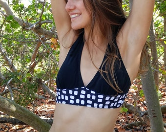 Black and White low skirted bikini ~ Limited Edition