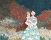 Original oil painting -Josephine and Sadie - fine art painting