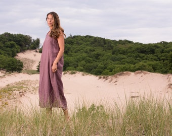 Organic Linen Camp Dress