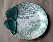 Ceramic Wedding Bowl Happily Ever After Wedding Gift Engagement Gift