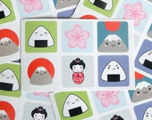 Kawaii Japan Sticker Sets - Mt Fuji, Onigiri, Sakura, Kokeshi