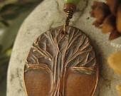 Tree of Life Pendant Copper, One Tree, Necklace, Tree of Life Jewelry, Irish Celtic Jewelry
