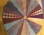 Rustic Primitive Country Plaid Christmas Tree Skirt