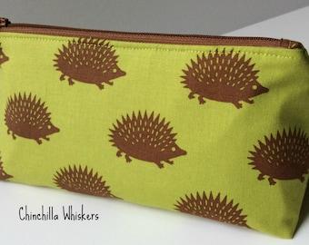 Hedgehog Zippered Pouch