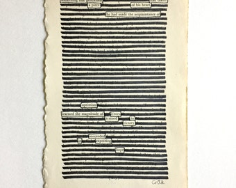 Blackout Poetry (something like gentleness) Original Artwork & Poem