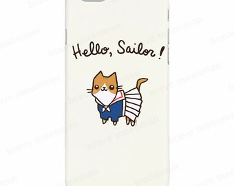 Nautical iPhone 6s Case Hello Sailor Cute Cat Phone Case Galaxy Note 5 Case Cute Gift For Her