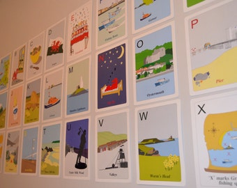South Wales alphabet flash cards