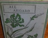 Handbound Artist Journal from vintage ALL ABOARD