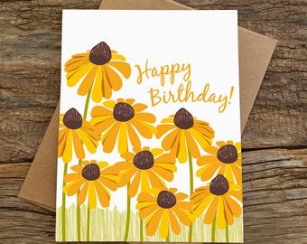 birthday card / black eyed susans