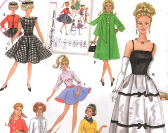 Simplicity 5785 Barbie Clothes FASHION DOLL ARCHIVES Sewing Pattern ©2002 Spanish Espanol & English Instructions