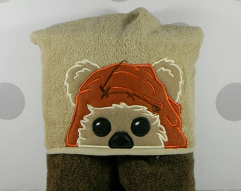 Toddler Hooded Towel - Ewok Hooded Towel - Character Inspired Ewok Towel for Bath, Beach, or Swimming Pool