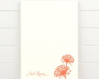 BLOOM Personalized Notepad - Floral Pretty Letterhead