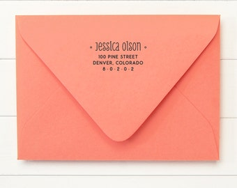 Return Address Stamp - WONDER DESIGN