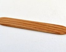 Weaving Sword, Pick Up Stick, Shed Stick For Inkle Weaving, Tablet Weaving, Card Weaving - Handcrafted Weaving Tool - Red Oak - 6""