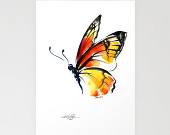 Monarch No. 3 - Beautiful Blank Butterflyl Greeting Cards from Original art by Kathy Morton Stanion EBSQ