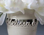 First Names Only - Wedding Vase, Anniversary Gift - Sweetheart Vase