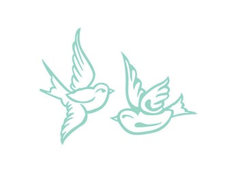 Two Birds Decal Sparrow Decal Swallow Decal Dove Decal Love Bird Decal Love Decal Mocking Jay Decal Vinyl Wall Decal Car Decal Laptop Decal