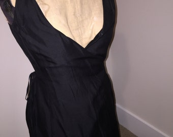 Vintage Ann Taylor Silk Black Dress