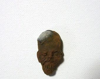 Mummified, Mummy, Voodoo, Amulet, Shrunken Head,marble skull, ZombieHead Pendant