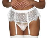 Giselle lace thong with sheer mesh- black or ivory fine lace. Sheer see-through knickers knicker panty thongs lingerie g string undies