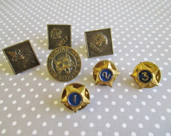 Seven Vintage Cub Scouts BSA Lapel Pins