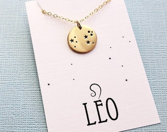 Leo Jewelry | Leo Necklace, Zodiac Jewelry, Zodiac Necklace, Constellation Necklace, Astrology Jewelry, Zodiac Sign Necklace, Zodiac