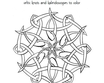 Coloring Book for adults,  PDF instant download, Sea Shanties Celtic Knots and Kaleidoscopes