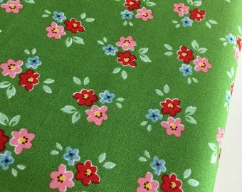 SALE Backyard Roses fabric, Bouquet in Green fabric, Discount fabric, Riley Blake Fabrics, Fabric by the yard, Choose your cut