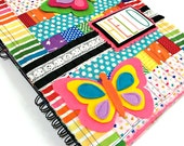 HELLO  -- Rainbow Fabric Photo Album