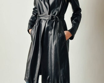 Vintage Plein Sud Leather Trench Coat