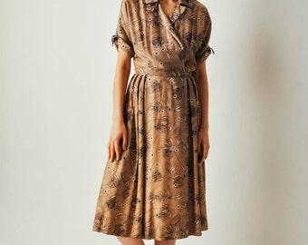 Vintage 50s Print Dress